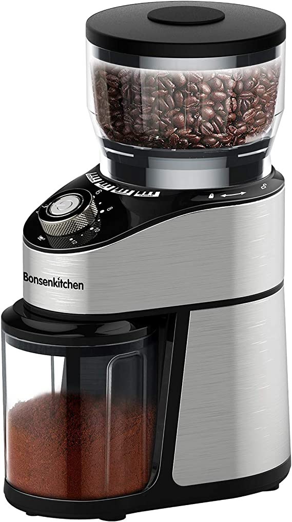 Stainless Steel Conical Burr Coffee Grinder