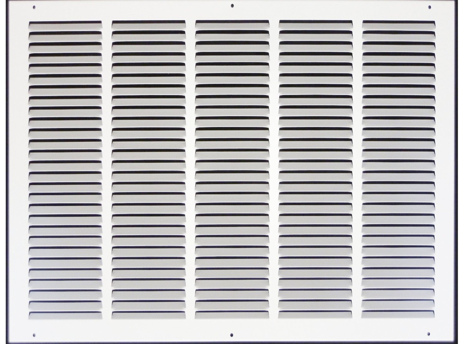 25''w X 20''h Steel Return Air Grilles - Sidewall and Cieling - HVAC DUCT COVER - White [Outer Dimensions: 26.75''w X 21.75''h]