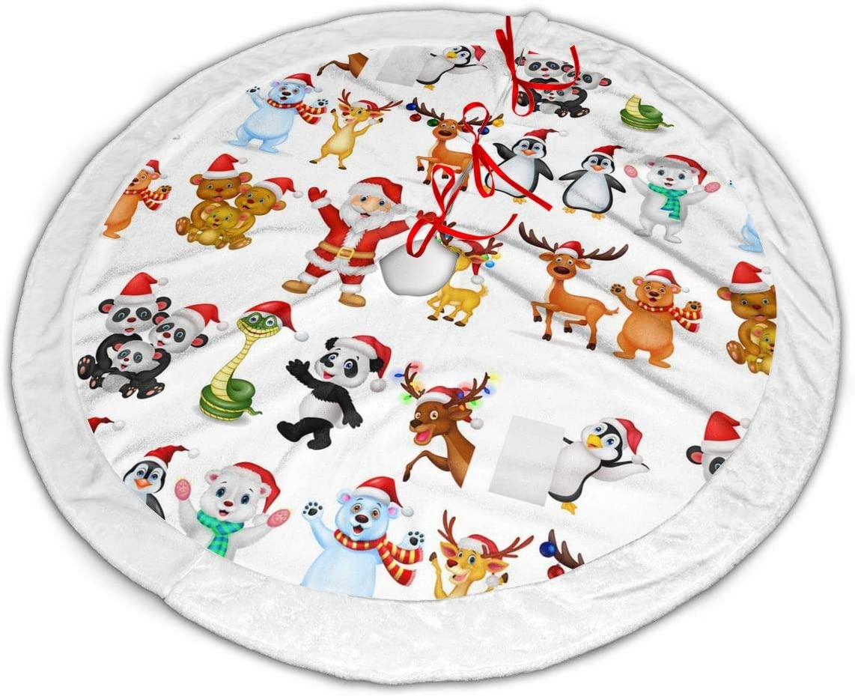Amazon Com Jiulongjiufeng 35 Inch Christmas Tree Skirt Cartoon Santa Claus Printed Tree Skirt Christmas Holiday Party Ornaments Home Kitchen 120cm christmas tree skirt cartoon car carpet base floor mat cover xmas decor. amazon com