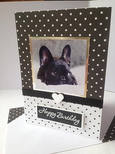 Handmade french bulldog dog happy birthday greetings card cake handmade french bulldog dog happy birthday greetings card cake congratulations celebrations card a6c6 size m4hsunfo