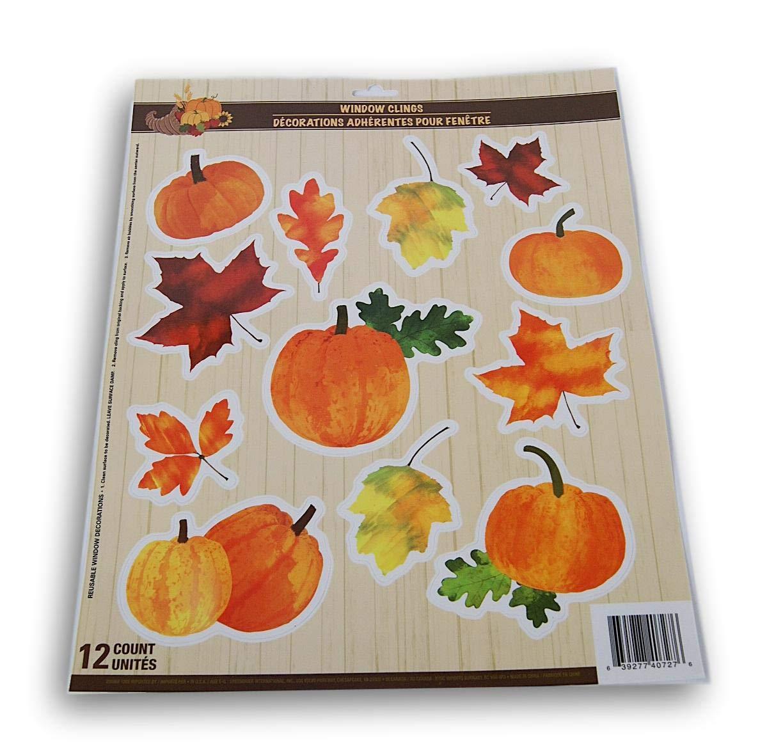 Amazon Com Seasonal Decor Autumn Fall Thanksgiving Themed Window