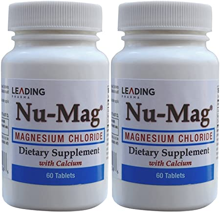 Amazon.com: Nu-Mag Magnesium Chloride with Calcium Enteric Coated 60 Tablets per Bottle PACK of 2: Health & Personal Care