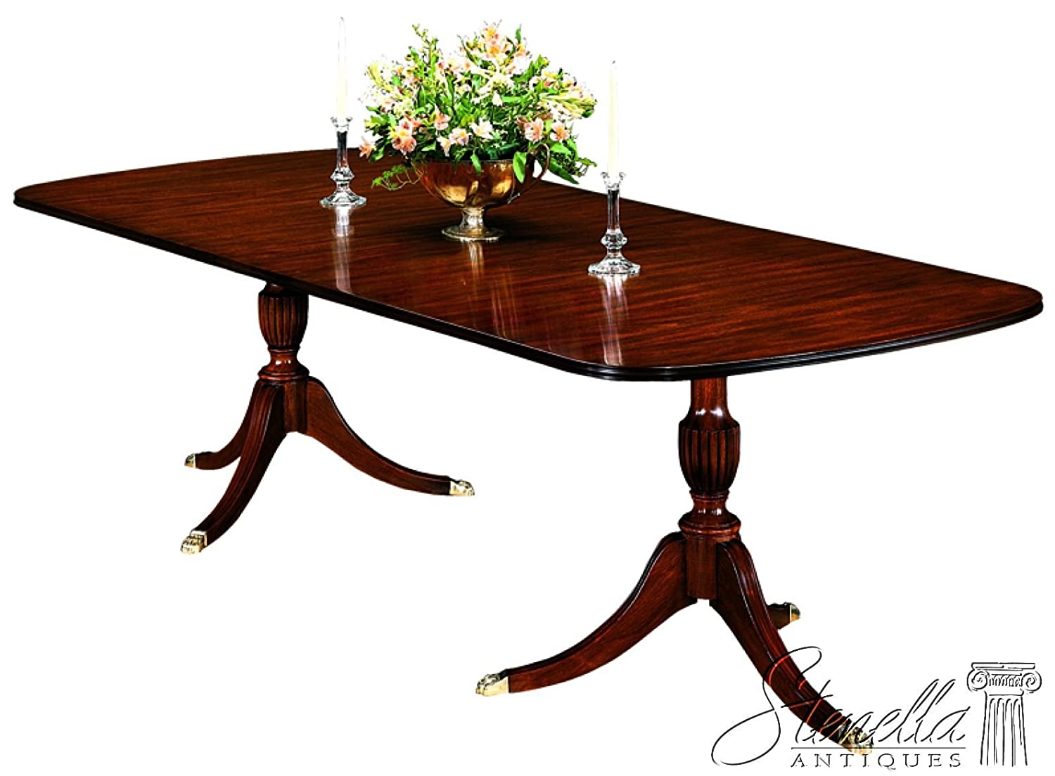 Amazon.com   Henkel Harris Model #2208 Duncan Phyfe Mahogany Dining Room  Table ~ NEW   Tables
