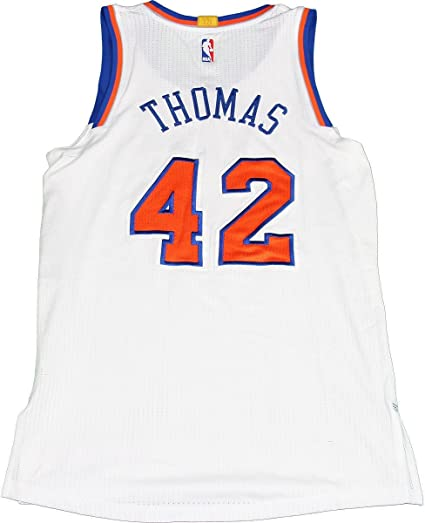 Lance Thomas - 2014-2015 Game Used White Knicks Jersey (3-17-2015 vs ... 54e363b02