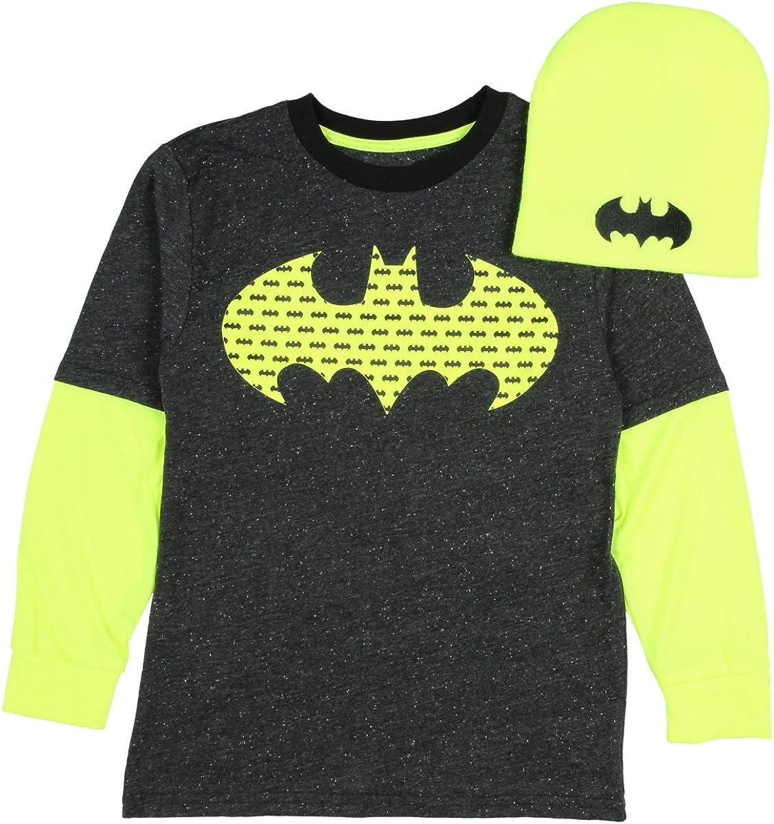 DC Comics Batman Toddler Little Boys Black Knit Sweater