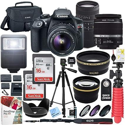 Cámara réflex Digital Canon T6 EOS Rebel con EF-S, 18 – 55 mm, es ...