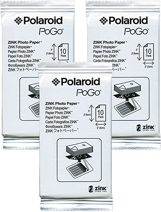 Polaroid 2 x 3, papel fotográfico ZINK – Película Compatible con ...
