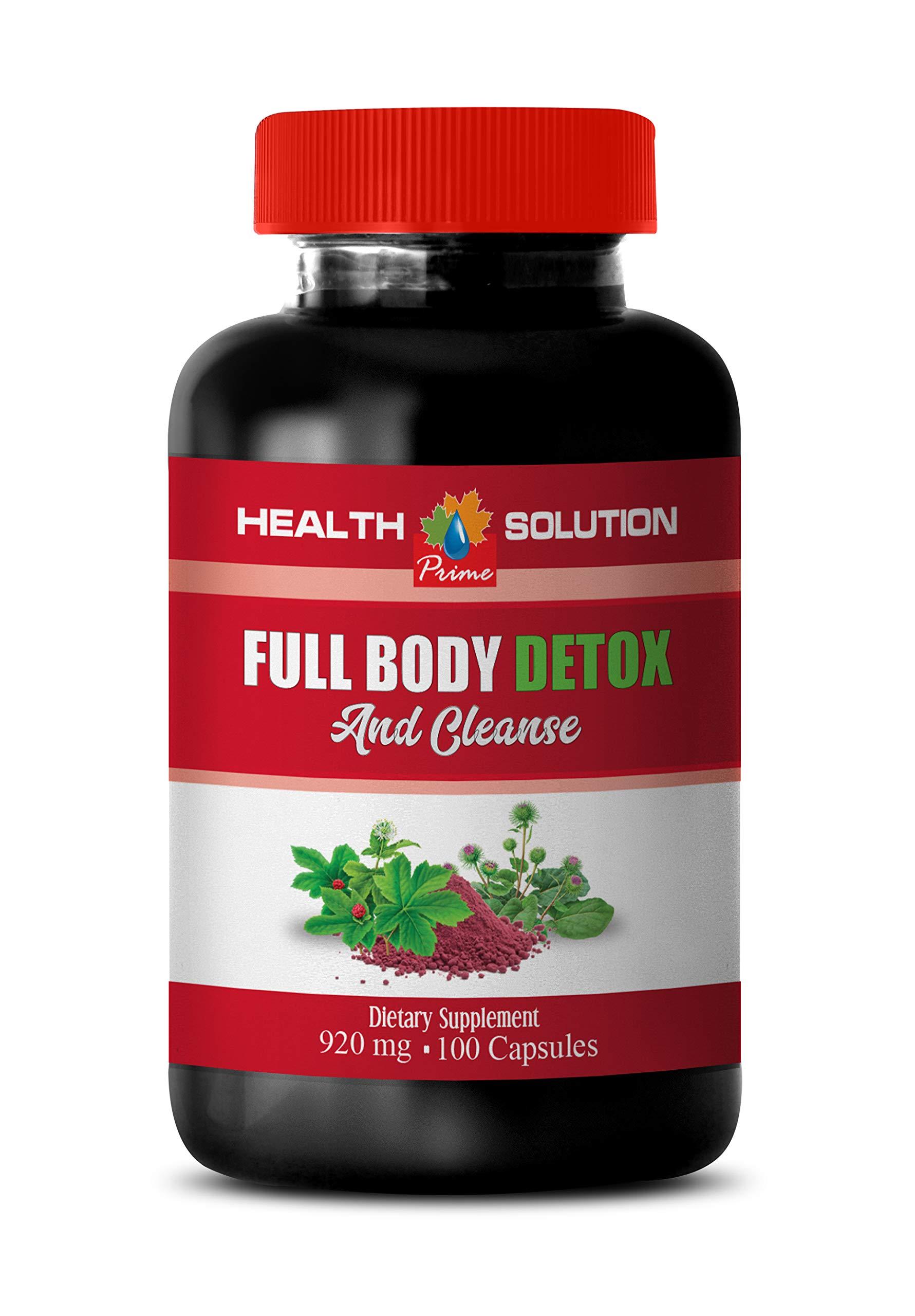 Men Detox Cleanser - Full Body Detox and Cleanse 920 MG - Milk Thistle and Burdock - 1 Bottle 100 Capsules
