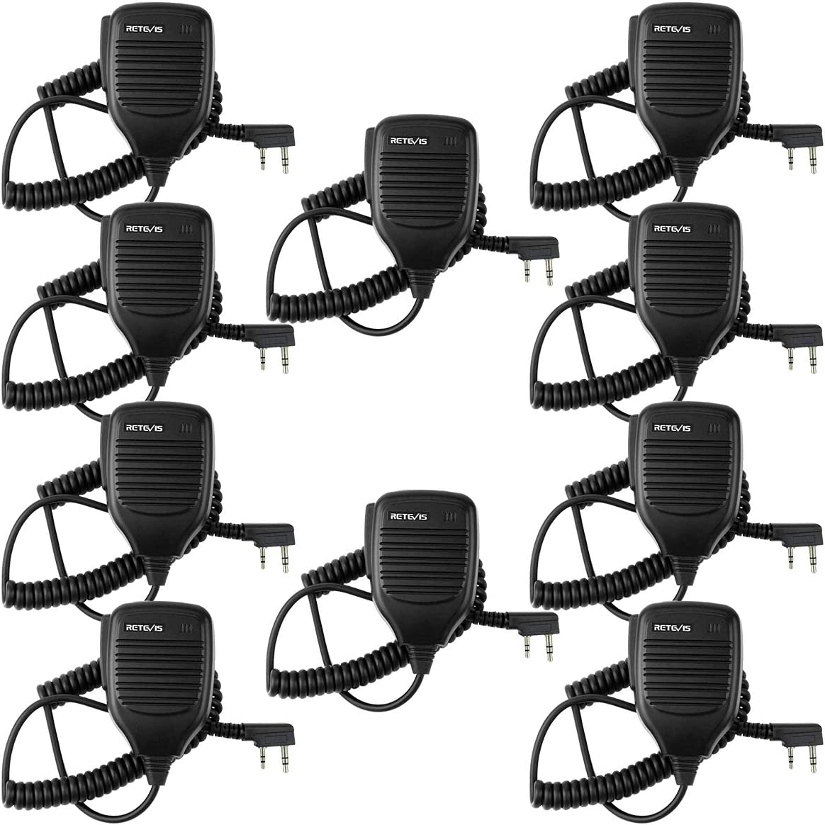 10X Retevis IP54 Speaker Microphone 2 PIN for H777 RT21 RT27 Kenwood 2-Way Radio