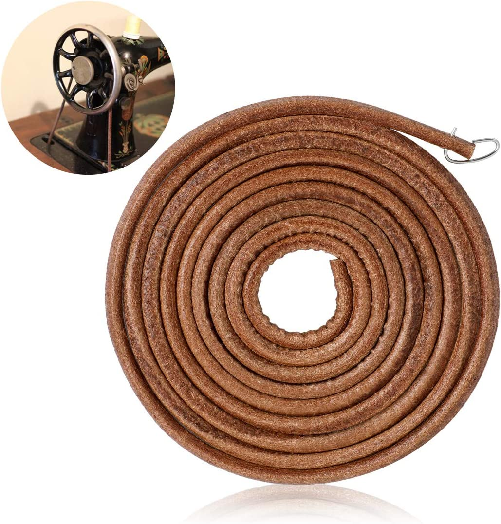 Sewing Machine Belts,71 3//16 Universal Sewing Machine Belts Sewing Machine Leather Belt Treadle Machine Belt with Hook for Singer Jones Sewing Machine Parts and Accessories