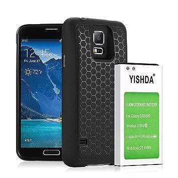 YISHDA 6100 mAh Extended batería para Samsung Galaxy S5 con ...