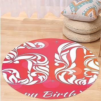 Amazon.com: VROSELV Custom carpet50th Birthday Decorations Vibrant ...