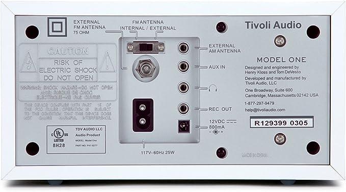 con reproducci/ón de MP3 Tivoli Audio Music System Three Grabador de Radio