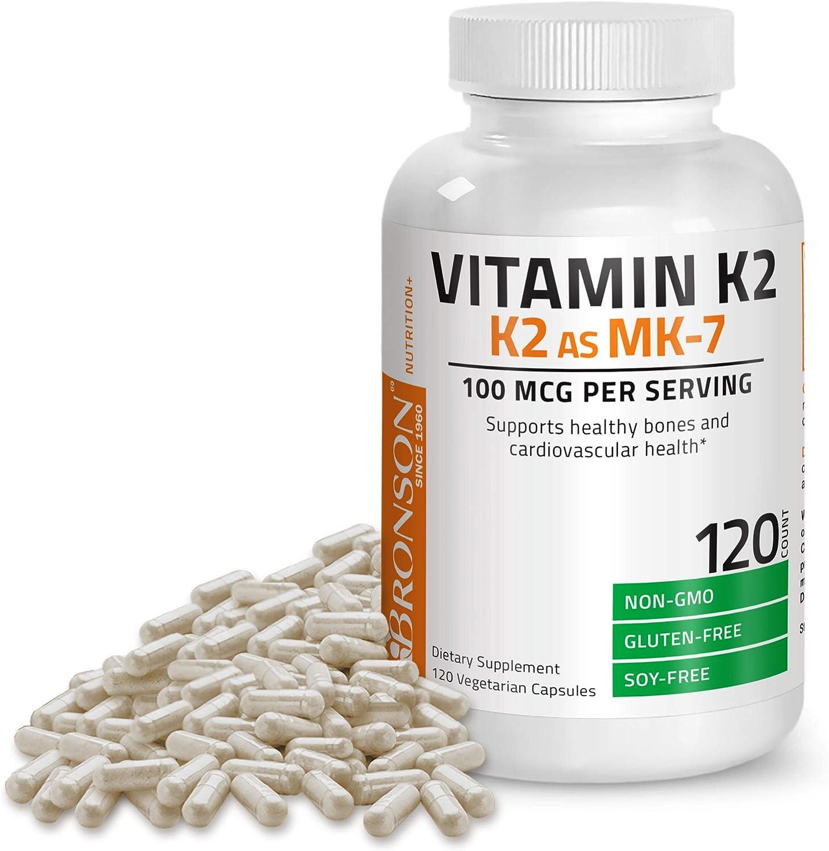Bronson 120 Capsules 100 mcg Vitamin K2 as MK-7 $12.74 Coupon