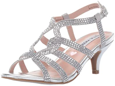 9135bc03b2ac7 Steve Madden Girls  JAMOUR Heeled Sandal Silver 13 M US Little Kid