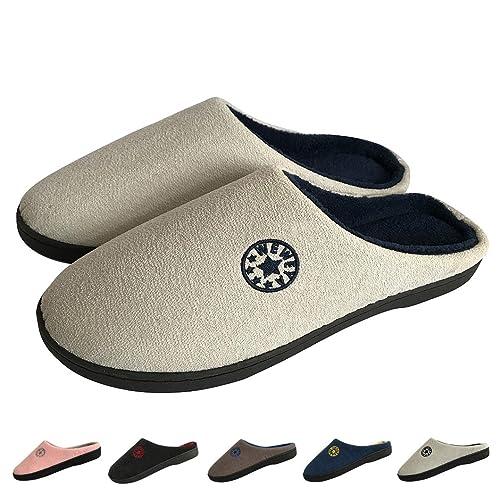 Zapatillas Casa Mujer Hombre Invierno Calido Zapatillas Cómodas Suave Flat Slipper Zapatillas de casa de Mujer Ultraligero cómodo y Antideslizante Zapatilla ...