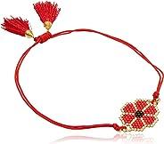 Tori Collections Pulsera de Chaquira Arte Huichol para Mujer, Rojo