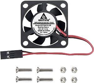 GDSTIME Raspberry Pi Cooling Fan, 30x30x7mm for Raspberry Pi 4 Model B, 3 B+, Pi 3, Pi 2, Pi 1 B+ Cooling