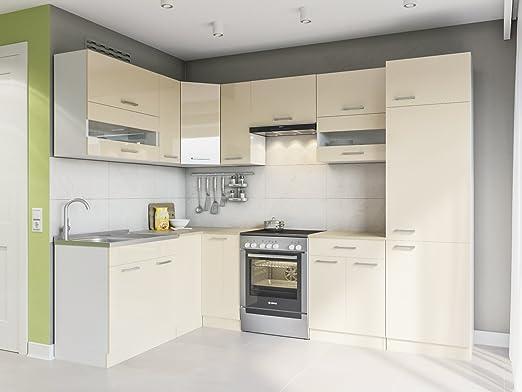 Eldorado de ángulo de Muebles Cocina Alina 270 x 170 + Cream Barniz L Forma de Cocina línea Esquina Cocina Block: Amazon.es: Juguetes y juegos