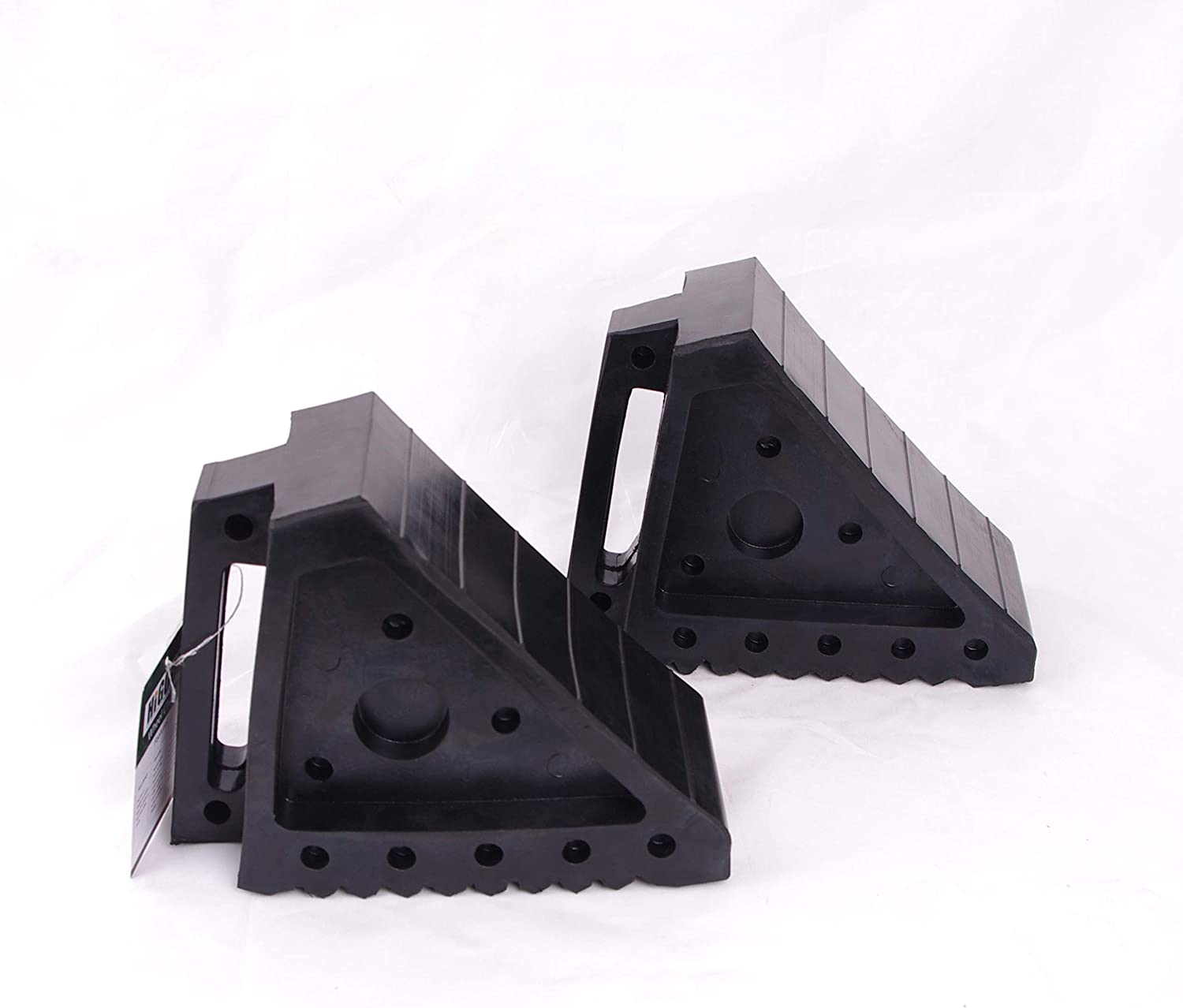 """HIGOOD Solid Rubber Wheel Chock with Handle for The Car, Strong and Durable,8"""" Length, 4"""" Width, 6"""" Height - Pack of 2: Automotive"""