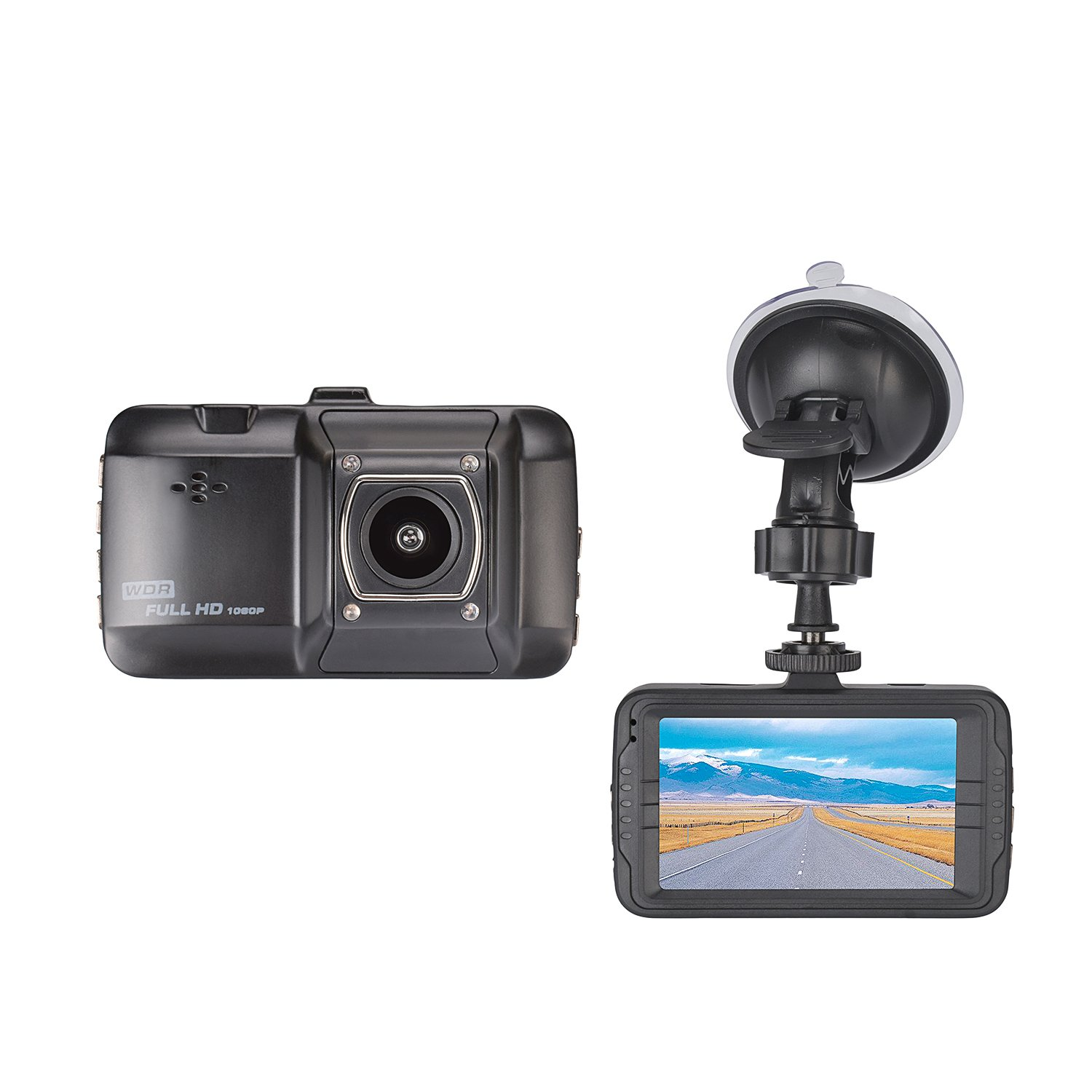 Elitehood Car Recorder 1080P Full HD Extreme 170 Degrees Ultra Wide-Angle Lens 3.0 inch LCD Screen for Loop Recording
