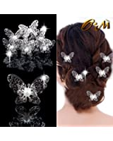 Onairmall Pack of 10 Bride Rhinestone Hair Pin for Beach Themed Wedding Women Hair Accessories