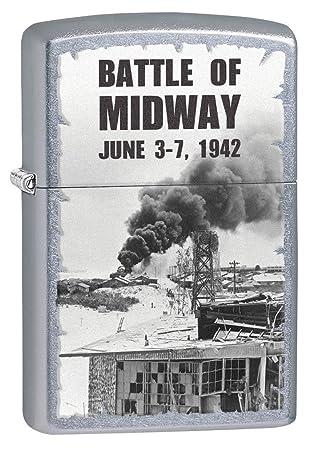 zippo lighter world war ii battle of midway street chrome 77280