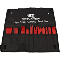 SunplusTrade 11Pc Auto Trim Door Panel Window Molding Upholstery Fastener Clip Removal Tool Kit