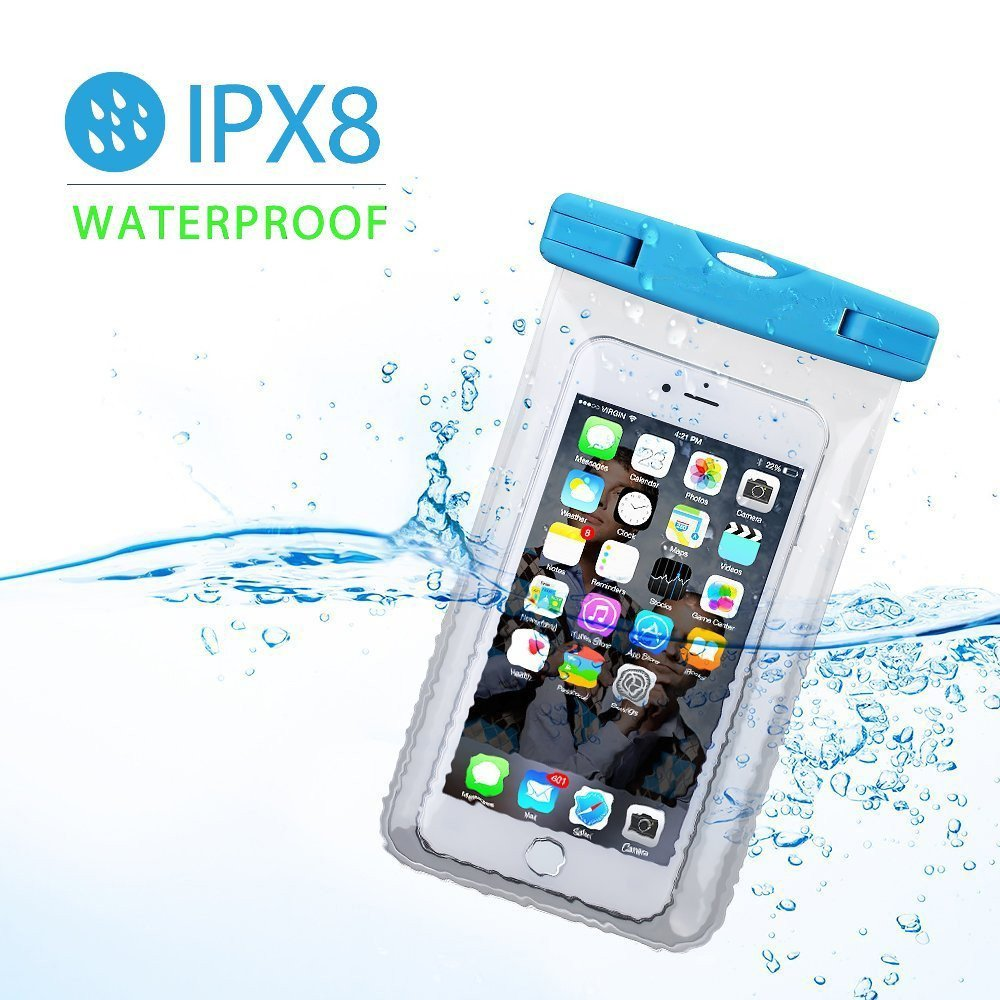 Waterproof Case, Firstbuy waterproof Pouch Dry Bag for Outdoor Water sports,waterproof phone case With Sensitive Screen Perfect For iPhone7 7plus 6S 6S Plus Samsung S8,phones up to 6 inches (3pack)