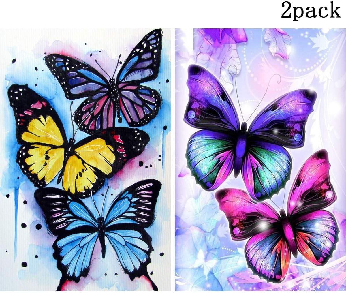 30 X 40 cm 2 Paquetes DIY 5D Diamond Painting,para Decoraci/ón de la Pared del Hogar Sancuanyi 5D DIY Pintura Diamantes
