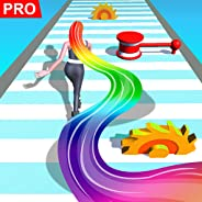 Hair Runner Challenge game 3d to make your hair long by collecting all hairs in this original girls hair games