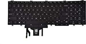KBRPARTS Replacement Keyboard Compatible with Dell Precision 3500 3501 3540 3541, Latitude 5500 5501 5510 Laptop with Backlit with Pointer US Layout