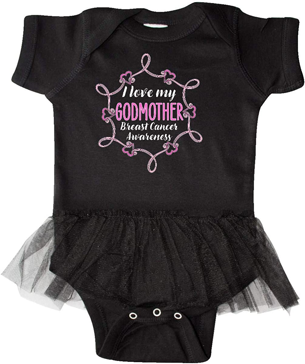 Breast Cancer Awareness Infant Tutu Bodysuit Inktastic I Love My Godmother