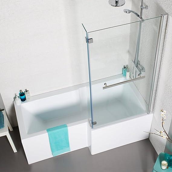 Tetris cuadrado barra con protector de panel de baño y toalla de ...