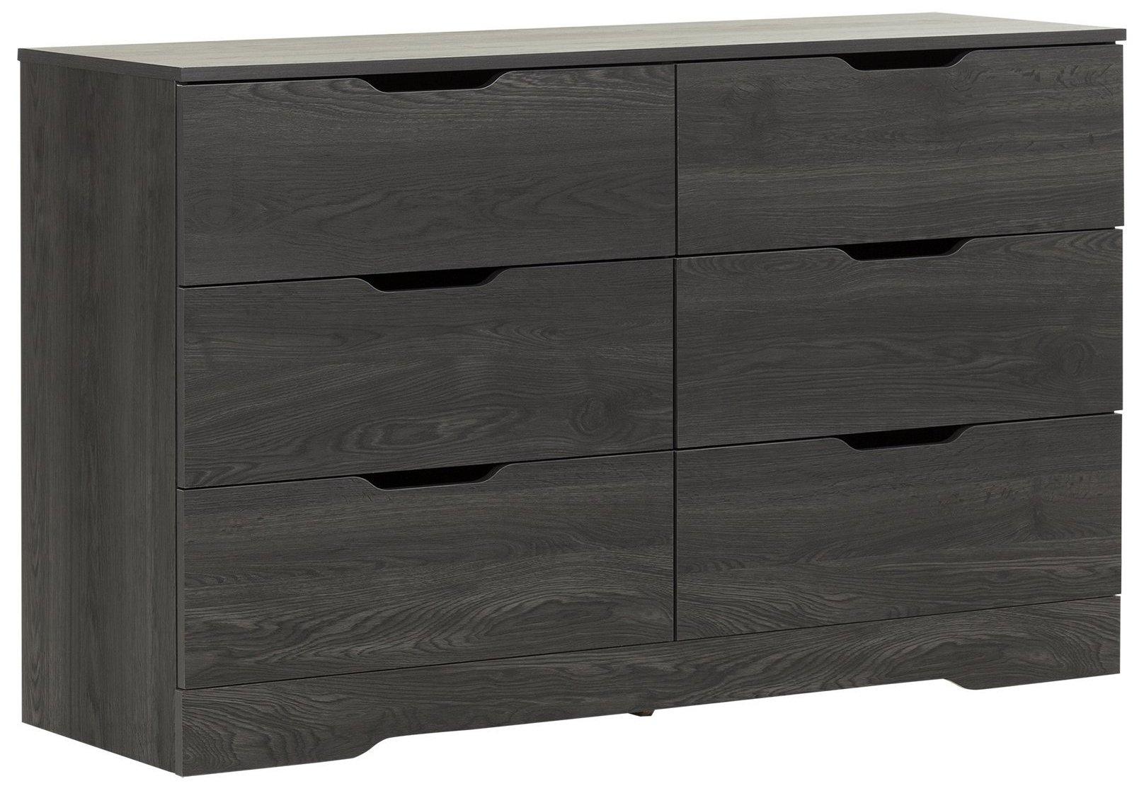 South Shore Holland 6-Drawer Double Dresser, Gray Oak
