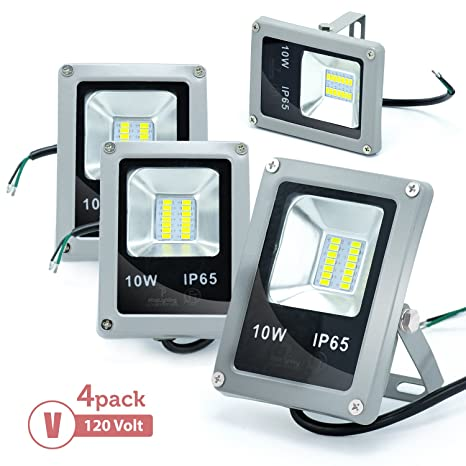 Amazon.com: eTopLighting 4-Pack 120 V 10 W LED luz de ...