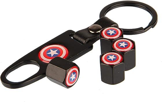 Superhero Superman Car Tire Wheel Stem Air Valve Stem Dust Cap Cover Wrench Key