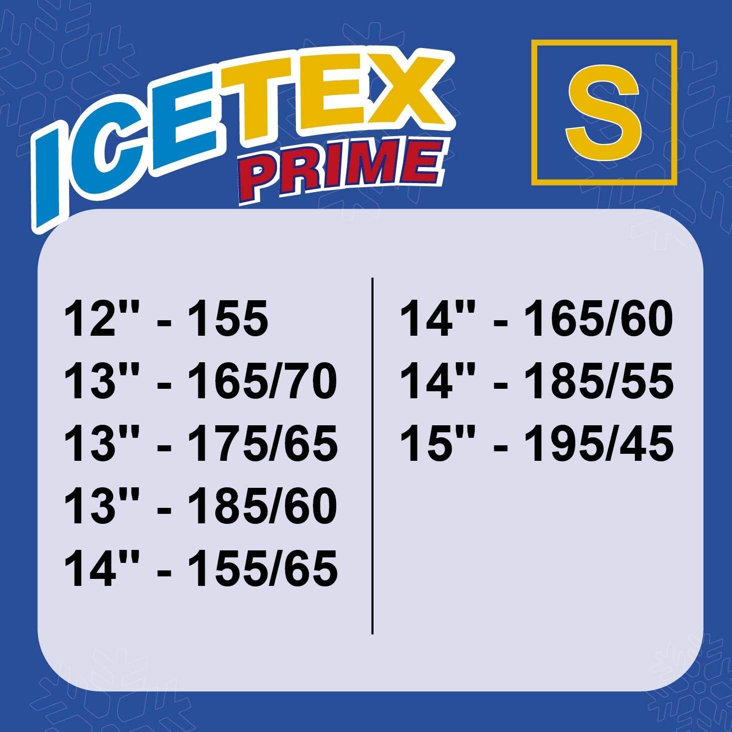Adh/érence Maximale - 3405.0051805 Chaussettes Textiles Antid/érapantes Taille F ICETEX PRIME Chaine De Neige Textile