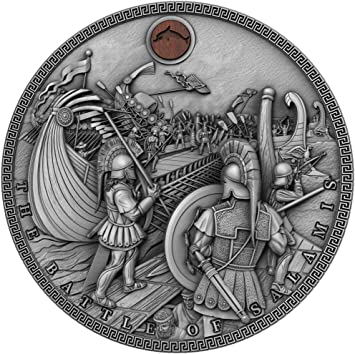 Power Coin Battle of SALAMIS Sea Battles Chinos 2 Oz Moneda ...