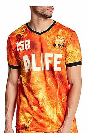 Puma Alife 158 Naranja Llamas Jersey Camiseta de fútbol para Hombre tamaño Mediano: Amazon.es: Deportes y aire libre