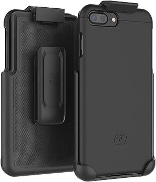 Amazon Com Encased Iphone 7 Plus Belt Case Slimshield Series Secure Fit Holster Clip Tough Cover Combo For Iphone 7 Plus 5 5 Smooth Black Electronics