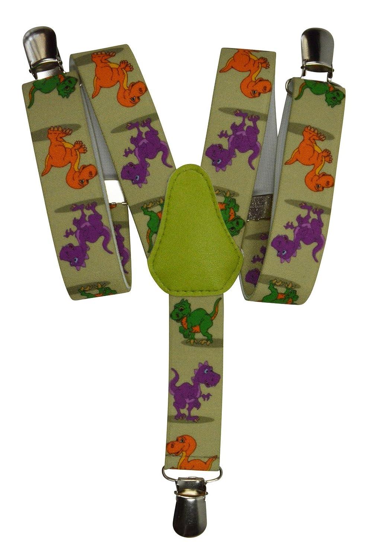 Dinosauro Modello Y Clip design Olata Bretelle Elasticizzata per Bambini 1-5 Anni
