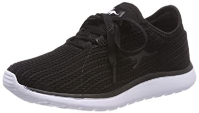 c2884691 Amazon.com | KangaROOS Women's Bumpy Woven Trainers, Black (Jet ...