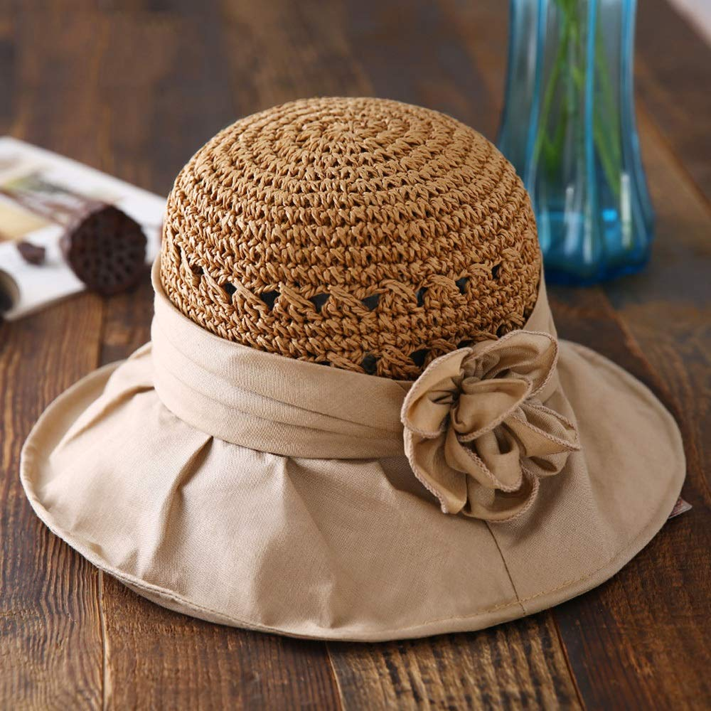 2 Xiao Jian Hat  Women's Summer Sun Visor Outdoor Travel Vacation Straw Hat Beach Hat Foldable Cover Face Sun Predection Sun Hat (3 colors) Summer hat