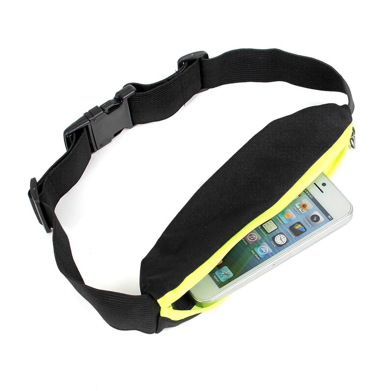 2-TECH Sportgürteltasche Handygürtel Gürteltasche Laufgürtel in NEONGELB ideal für Jogging Laufen für Handy, Schlüssel Karten usw. Running Belt