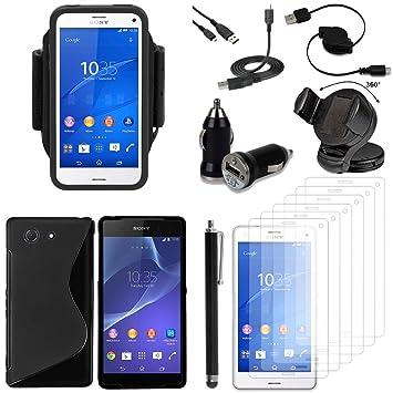VCOMP Sony Xperia Z3 Compact D5803 D5833: Lote Funda Carcasa ...