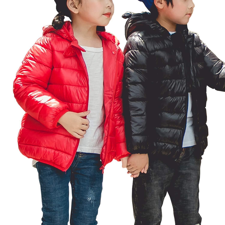 BSC007 Baby Boys Girls Winter Coats Hoods Light Puffer Down Jacket Outwear