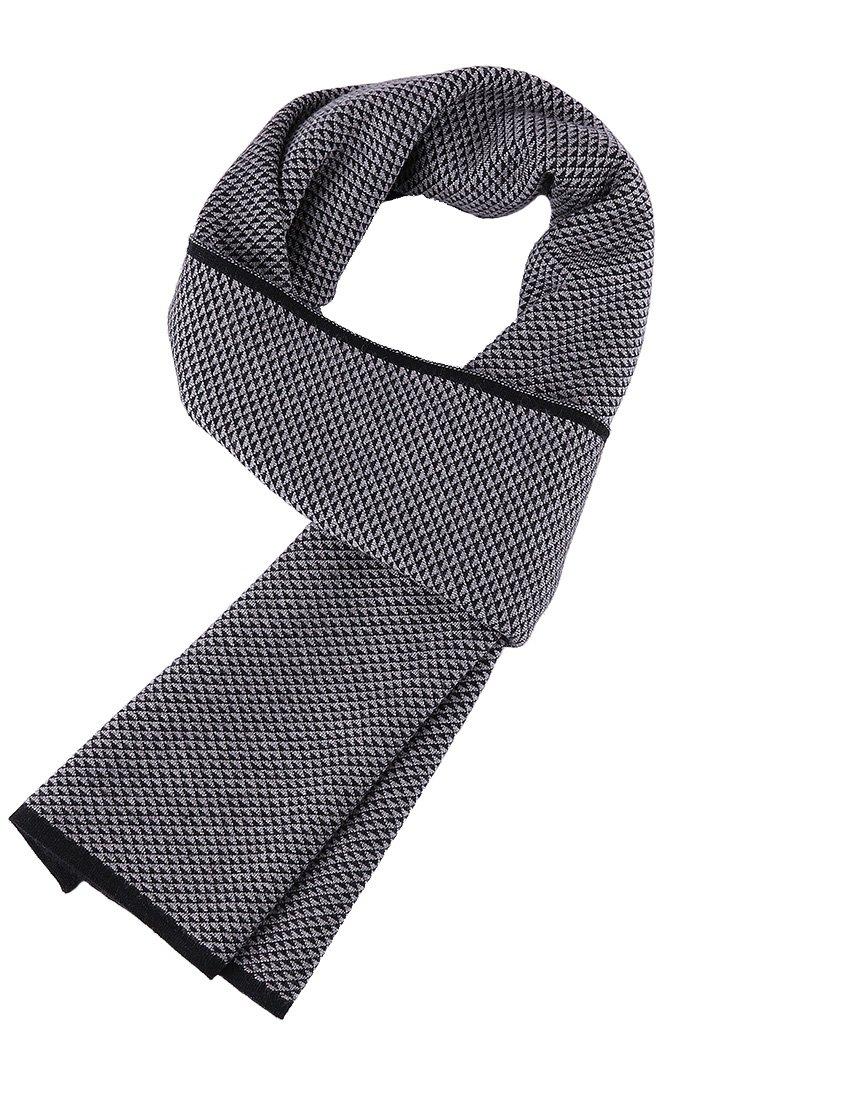 Veniroc Men Scarf Winter Cashmere Black Scarves