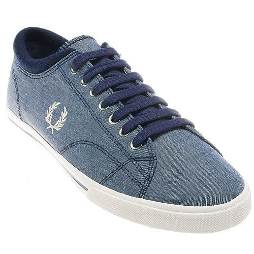 Fred Perry - Zapatillas de Deporte de Lona Hombre, (Bleu jeans), 44: Amazon.es: Zapatos y complementos