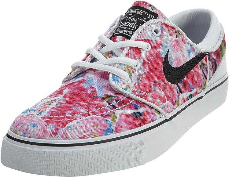 a41e1d2ce6d73 Amazon.com: Nike Kids Stefan Janoski Premium Canvas Skate Shoe White ...